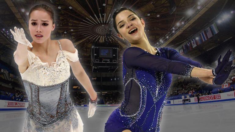 Алина Загитова и Евгения Медведева.
