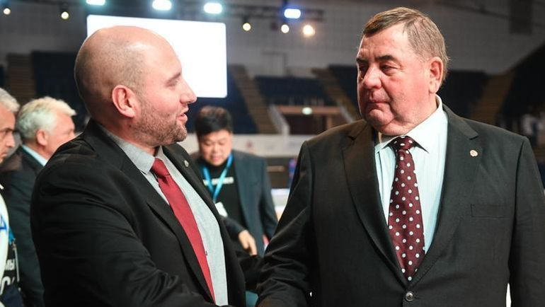 Президент Международной федерации самбо Василий Шестаков (справа). Фото sambo-fias.org