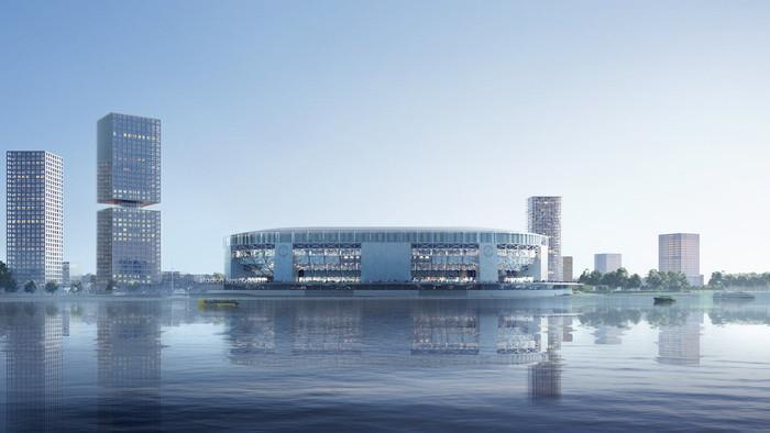 """Проект нового стадиона """"Фейеноорда""""."""