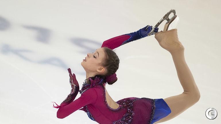 22 декабря. Саранск. Выступление в произвольной программе новой чемпионки России Анны Щербаковой.