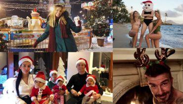 Ефимова в Москве, Бушар на пляже, Бекхэм с рогами и семья Роналду. Звезды на Рождество