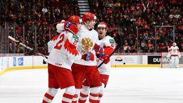 30 декабря. Ванкувер. Швейцария – Россия – 4:7. Российские игроки празднуют гол.