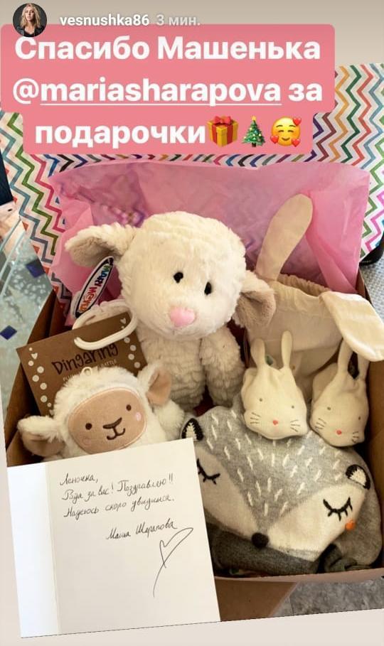 Елена Веснина благодарна Марии Шараповой за внимание.