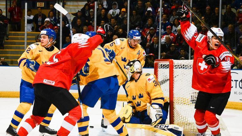 2 января. Ванкувер. Швеция - Швейцария - 0:2. Шведы снова провалилсь в плей-офф. Фото ИИХФ