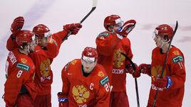 4 января. Ванкувер. Россия - США - 1:2. Российские игроки после матча.