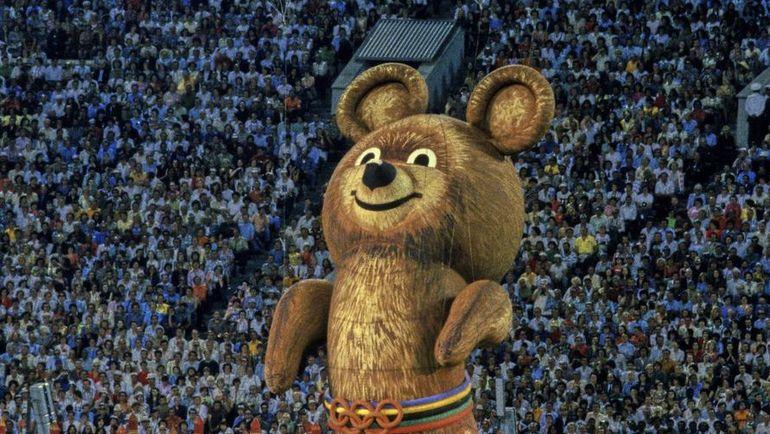 1980 год. Москва. Олимпийский мишка. Фото REUTERS