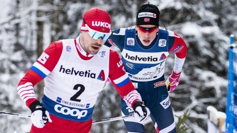 Сергей Устюгов и Йоханнес Клебо. Фото FIS