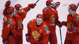 Капитан российской молодежки Клим Костин (№24) и его партнеры.