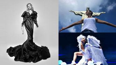 Кошелева у статуи Христа в Рио, крылья Сотниковой и платье Кузнецовой