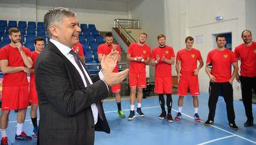 Сергей Шишкарев на тренировке сборной России. Фото AFP