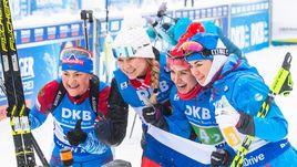 Золото - наше! Женская сборная России выиграла эстафету в Оберхофе