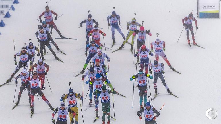 13 января. Оберхоф. Мужская эстафетная гонка на этапе Кубка мира.