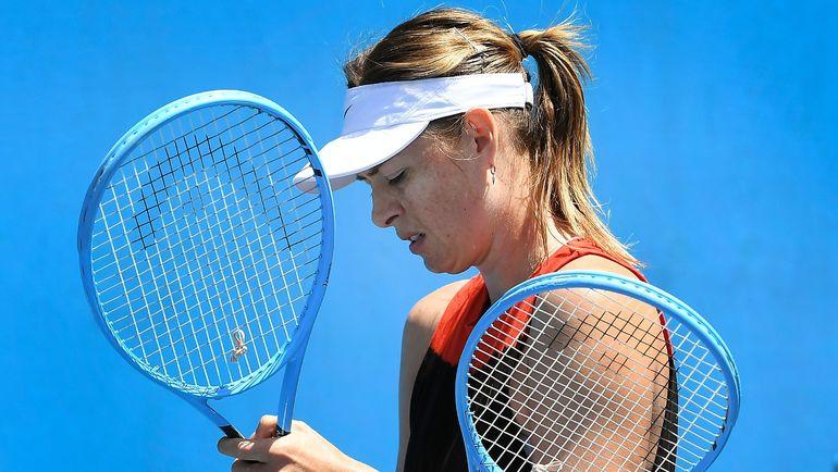 12 января. Мельбурн. Мария Шарапова готовится к старту на Открытом чемпионате Австралии. Фото AFP