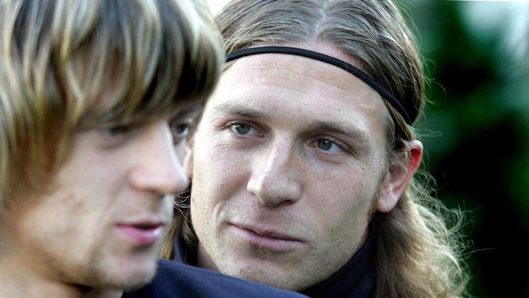 2004 год. Андрей Воронин (справа, с Анатолием Тимощуком). Фото Александр Задираки