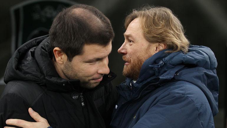 Мурад Мусаев и Валерий Карпин. Фото Виталий Тимкив