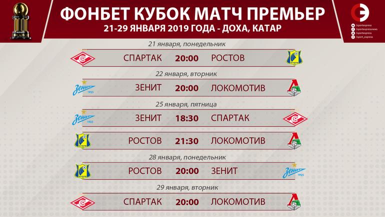 """Расписание """"Фонбет Кубок Матч Премьер"""". Фото """"СЭ"""""""