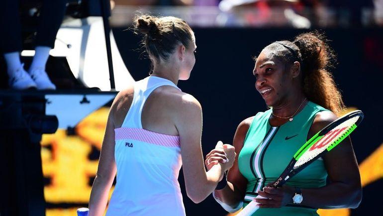 Каролина Плишкова (слева) обыграла Серену Уильямс в полуфинале Australian Open. Фото REUTERS