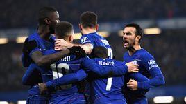 """24 января. Лондон. """"Челси"""" - """"Тоттенхэм Хотспур"""" - 2:1 (2:0). Пенальти - 4:2. """"Синие"""" празднуют победу."""