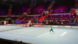 Открытая тренировка Марии Шараповой перед турниром в Санкт-Петербурге