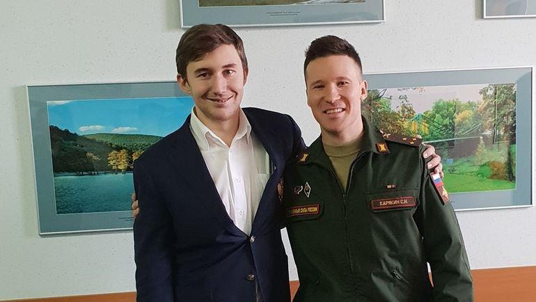 Два чемпиона мира, два Карякина, два друга шахматист (слева), пятиборец (справа).