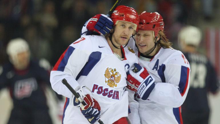 Алексей Ковалев и Дарюс Каспарайтис на Олимпиаде-2006. Фото AFP