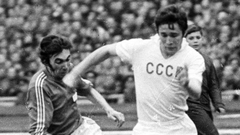1970-е годы. Евгений Ловчев в сборной СССР. Фото Анатолий Бочинин
