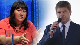Елена Вяльбе и Дмитрий Губерниев.