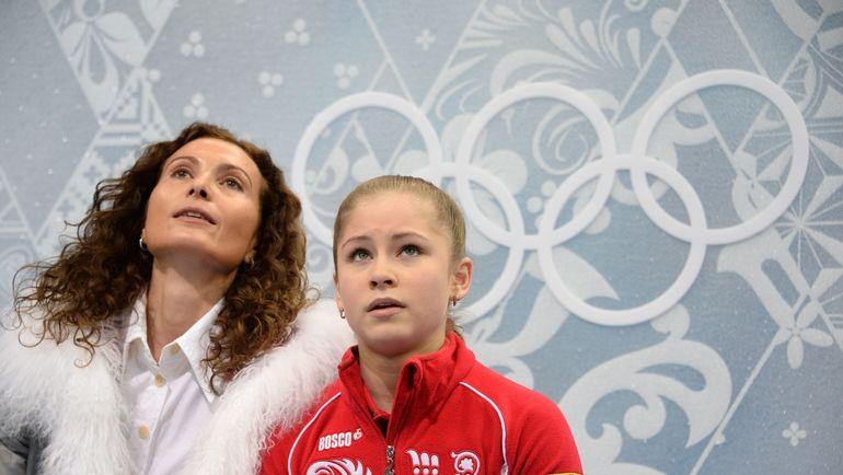 2014 год. Олимпиада в Сочи. Этери Тутберидзе и Юлия Липницкая. Фото AFP