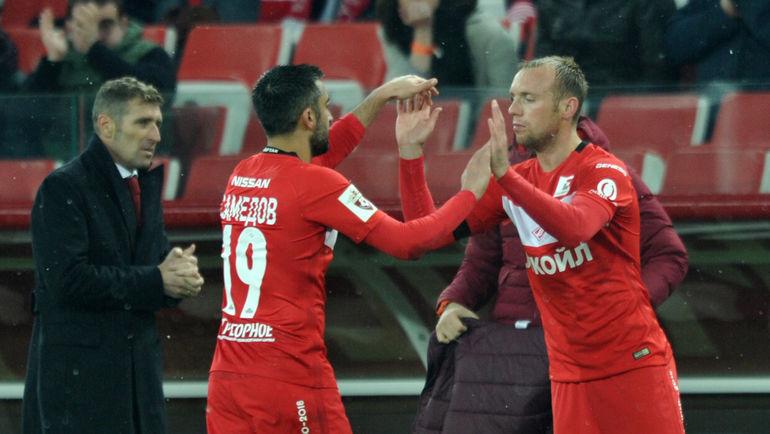 Массимо Каррера, Александр Самедов и Денис Глушаков (слева направо). Фото Алексей Иванов