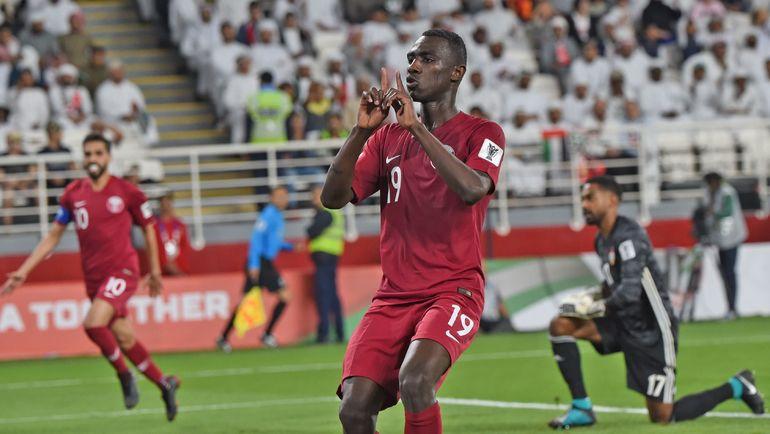 29 января. Абу-Даби. Катар - ОАЭ - 4:0. 37-я минута. Алмоез Али забил второй гол своей команды. Фото AFP