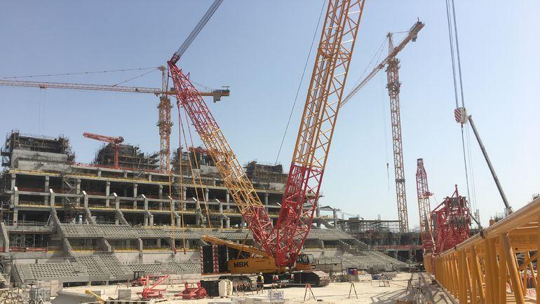 "Строительство стадиона в Катаре. Фото ""СЭ"""