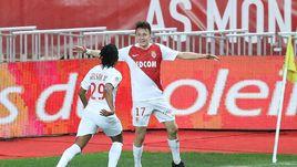 "2 февраля. Монако. ""Монако"" - ""Тулуза"" - 2:1. 15-я минута. Александр Головин (№ 17) празднует забитый мяч."