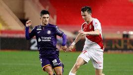 "2 февраля. Монако. ""Монако"" - ""Тулуза"" - 2:1. Александр Головин (справа)."