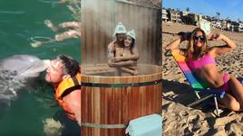 Овечкин отжигает на яхте, Тарасов парится с женой в бане, зубодробительные фото Ефимовой
