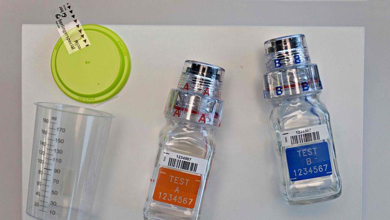 Пробирки для допинг-контроля. Фото AFP