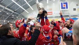 Сборная России - чемпион мира по хоккею с мячом.