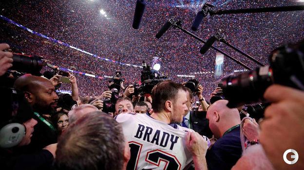 """4 февраля. Атланта. """"Лос-Анджелес Рэмс"""" - """"Нью-Ингленд Пэтриотс"""" - 3:13. Том Брэди. Фото Reuters"""