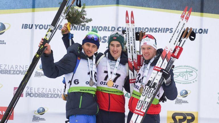 Саид Каримулла Халили (слева) поучаствовал в обеих медалях сборной России на юниорском чемпионате мира. Фото twitter.com/IBU_Junior