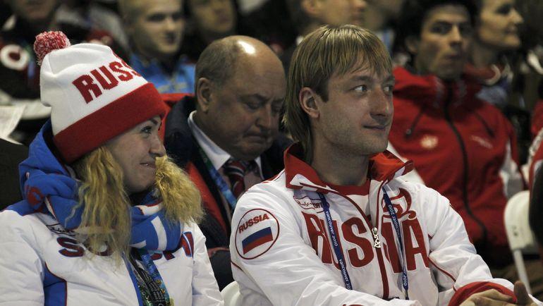 Яна Рудковская и Евгений Плющенко на Олимпийских играх в Ванкувере-2010. Фото Reuters
