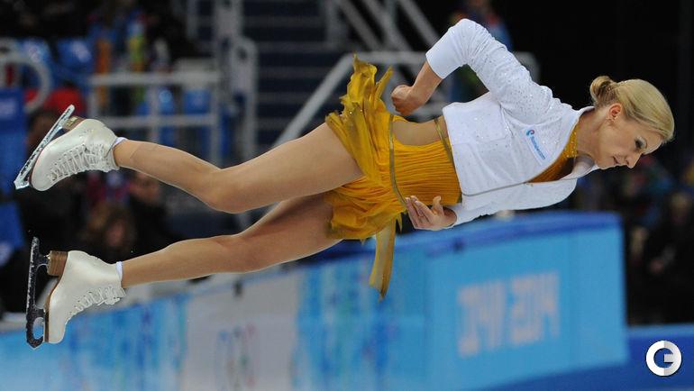 Олимпиада-2014. Олимпийские чемпионы Татьяна Волосожар и Максим Тарньков.