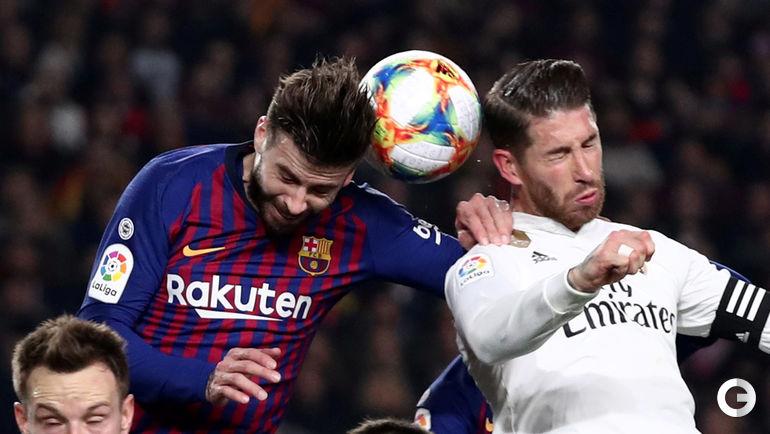 "6 февраля. Барселона. ""Барселона"" - ""Реал"" - 1:1. Жерар Пике и Серхио Рамос."
