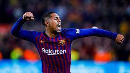 "6 февраля. Барселона. ""Барселона"" – ""Реал"" – 1:1. Малком празднует гол."