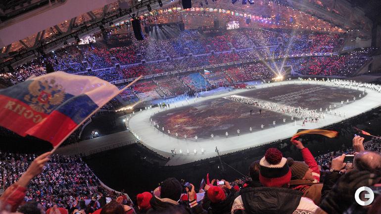 7 февраля 2014 года. Сочи. Церемония открытия Олимпийских игр.
