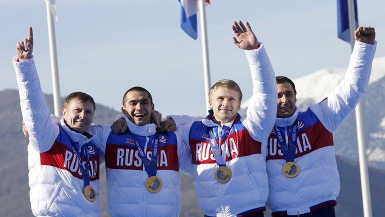 Александр Зубков, Алексей Негодайло, Дмитрий Труненков, Алексей Воевода. Фото REUTERS