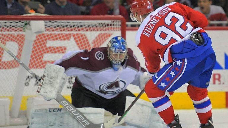 "8 февраля. ""Вашингтон"" - ""Колорадо"" - 4:3 ОТ. Евгений Кузнецов забросил победную шайбу. Фото НХЛ"