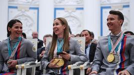 Российские паралимпийцы Марта Зайнуллина. Михалина Лысова. Алексей Бугаев.