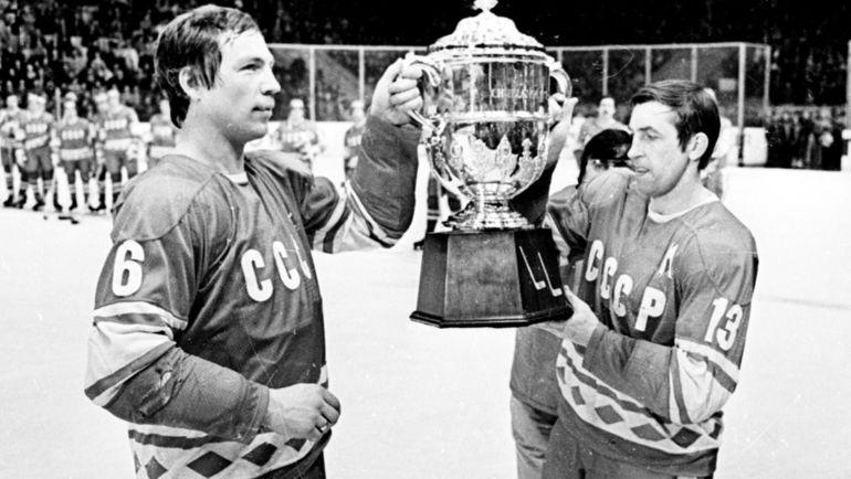 1979 год. Валерий Васильев и Борис Михайлов с Кубком Вызова. Фото Анатолий Бочинин