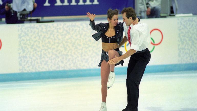 1994 год. Лиллехаммер. Оксана Грищук и Евгений Платов во время проката. Фото ТАСС