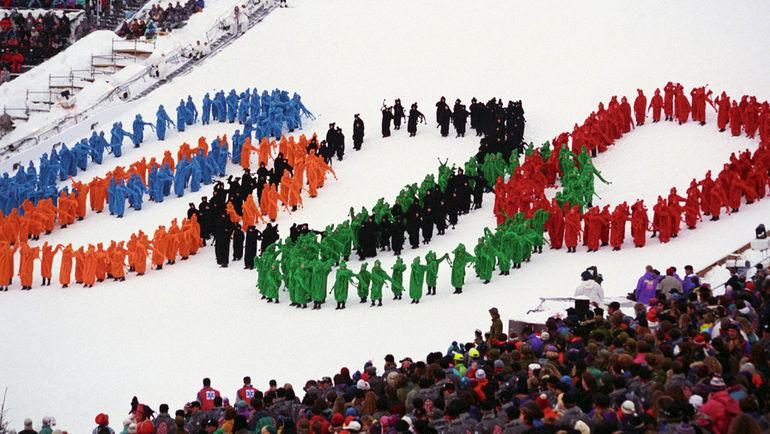 1994 год. Лиллехаммер. Открытие Олимпийских игр. Фото ТАСС