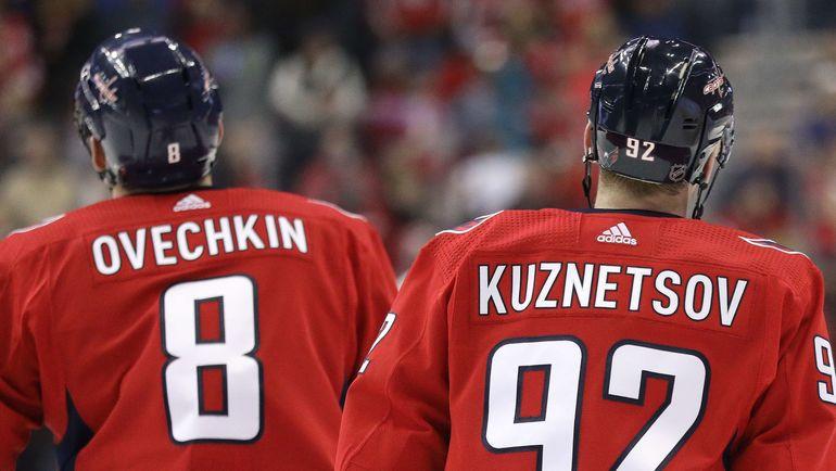 Александр Овечкин и Евгений Кузнецов. Фото AFP